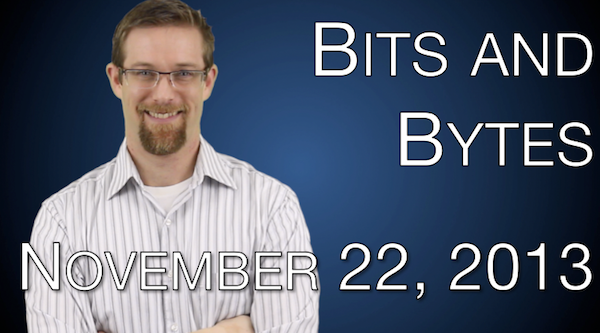 Watch FPPad Bits and Bytes for November 22, 2013