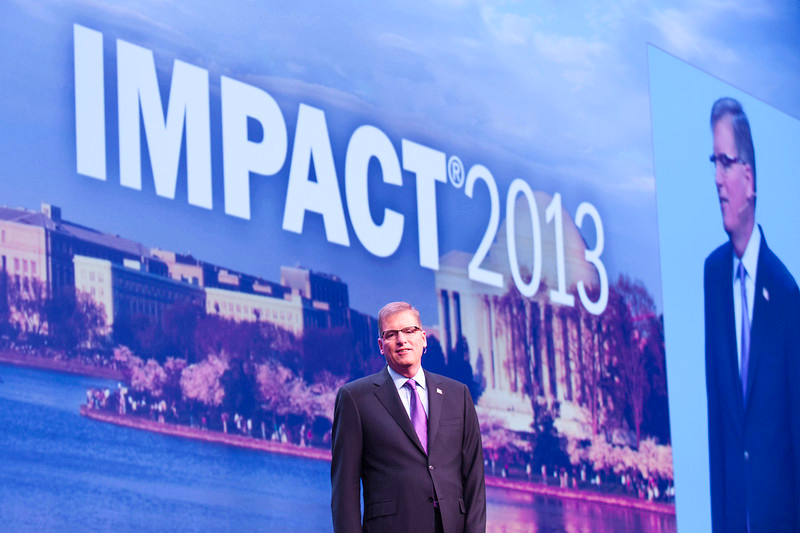 Bernie Clark, executive vice president of Schwab Advisor Services, kicks off IMPACT 2013 in Washington, D.C.