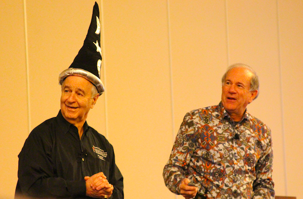 Bob Curtis, President and CEO of MoneyGuidePro (right) forecasting the future of financial planning with Harold Evensky (left)